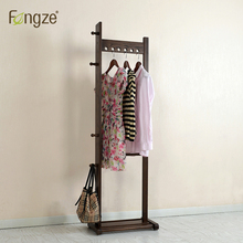 Furniture - Home Furniture - FengZe Home Furnishing Modern Cloth Hanger Hat Rack Solid Oak&birchWood Living Standing Hanger Scarves Hats Bags Clothes Shelf