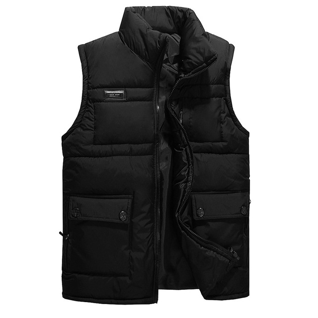 Men's Jacket New Sleeveless veste homme Winter Fashion Casual Coats Male Hooded Cotton Padded Men Vest men Thickening Waistcoat