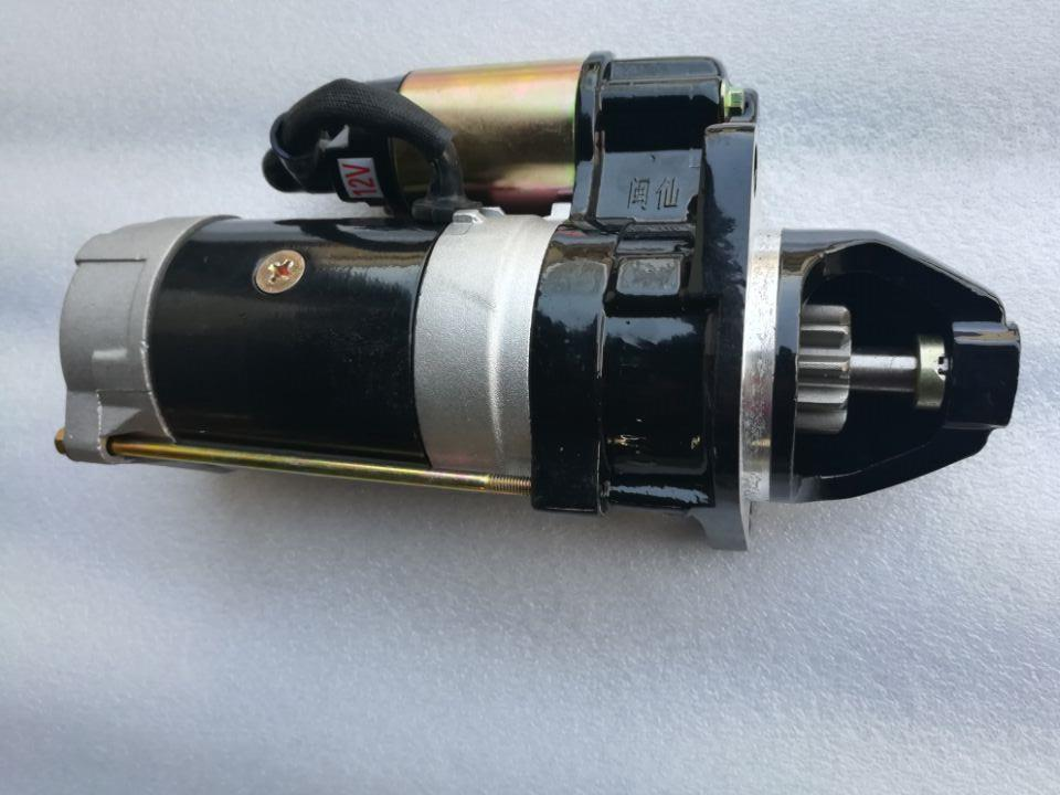 Quanchai QC4102T QQC4105T engine parts, the starter motor 3.7kW 12V , part number: 241020261008 hubei shenniu 304 tractor with engine 390t hubei brand engine the starter motor part number