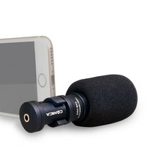 лучшая цена New Commlite CoMica Shotgun Video Microphone for Smarphone Full Metal Mini Cardioid Directional Microphone for Iphone Ipad