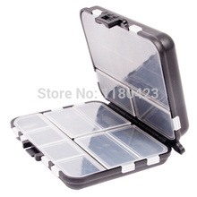 Folding fishing bait lure fishhooks box plastic accessories box double layer fishing tackle box storage tool box