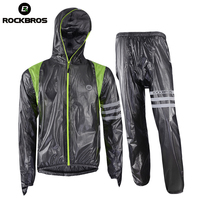 ROCKBROS Cycling Sets Raincoat Waterproof Breathable MTB Riding Motocross Bike Jersey Anti Sweat Bicycle Men Cycling