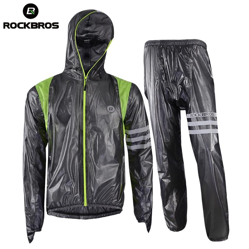 ROCKBROS Cycling Sets Raincoat Waterproof Breathable MTB Riding Motocross Bike Jersey Anti Sweat Bicycle Men Cycling