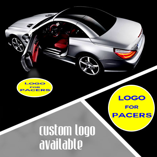 ФОТО LED Car Door Emblem Logo Welcome Laser Projection Spotlight for INDIANA PACERS Basketball GOBO Logo Shadow Puddle Light #1346