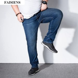 Image 2 - Mens jeans trousers stretch large size large size 6XL 7XL 8XL 9XL autumn classic casual jeans home 44 46 48 elastic