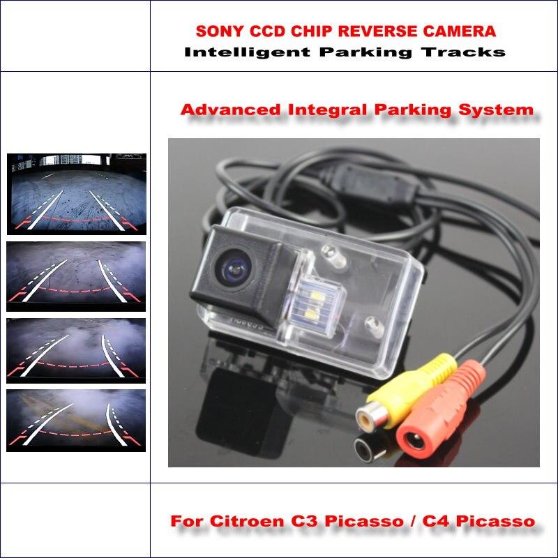 Caméra de recul intelligente pour citroën C3/C4/Picasso/C5 C6 vue arrière de sauvegarde/580 lignes de télévision pistes de guidage dynamique