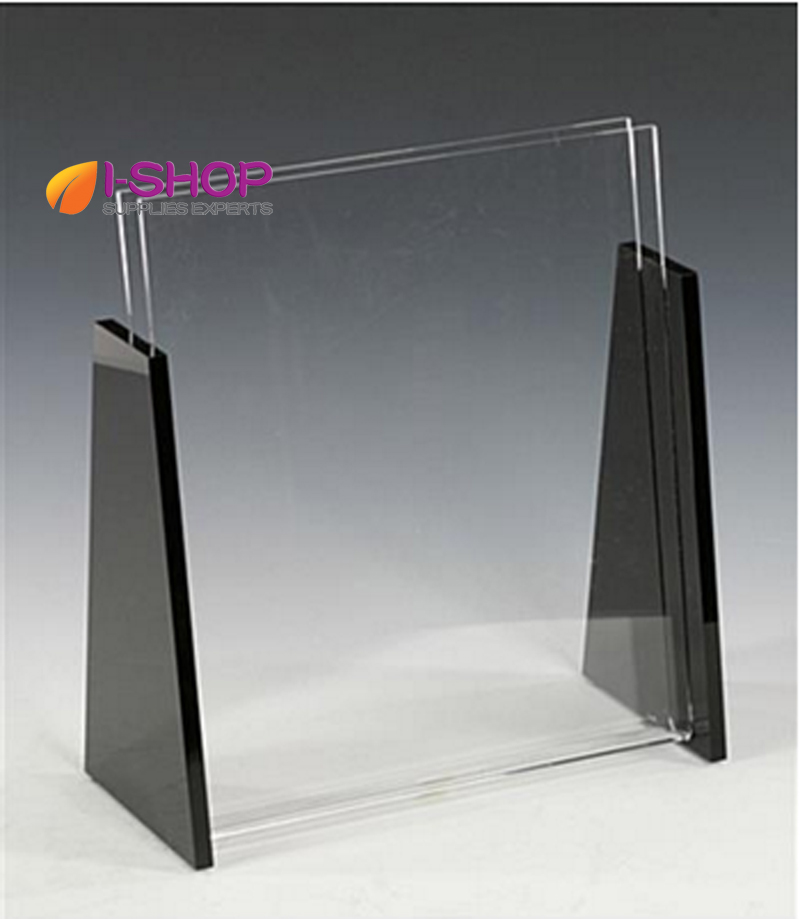 countertop clear and black end cups acrylic magazine display holder trs85china mainland