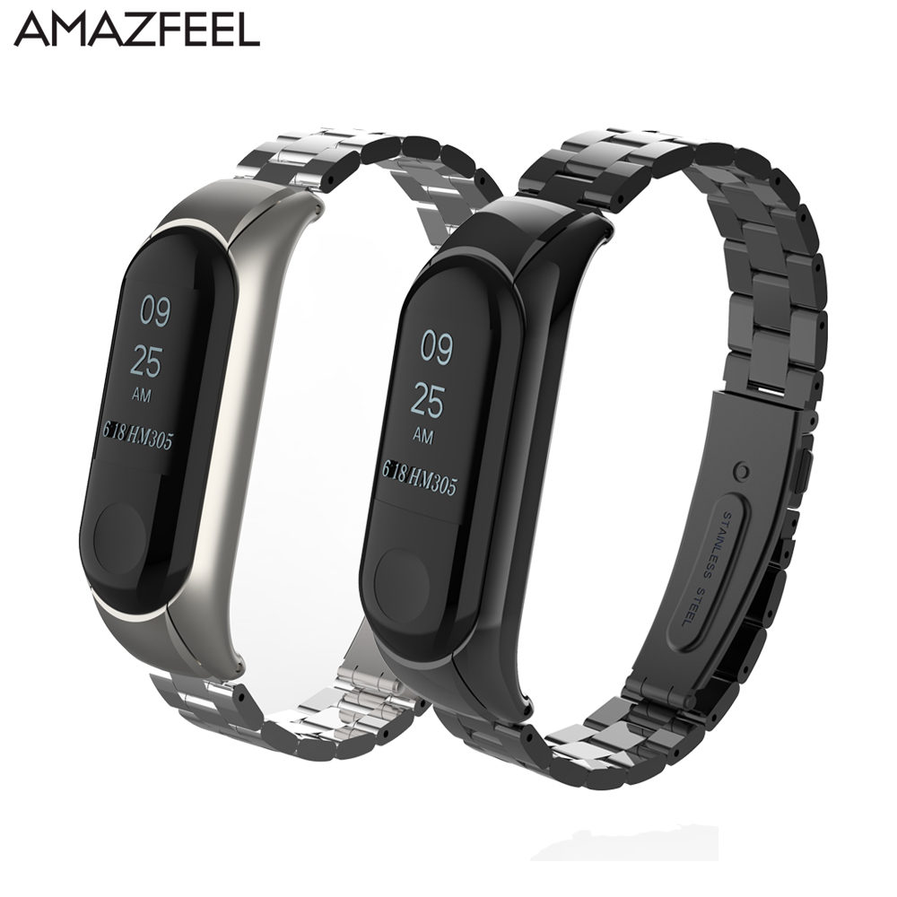 Mi band 3 Bracelet Metal Strap for Xiaomi Mi Band 3 Mi band 2 Strap Stainless Steel Screwless Pulseira MiBand 3 2 Wristband mi mandela cd