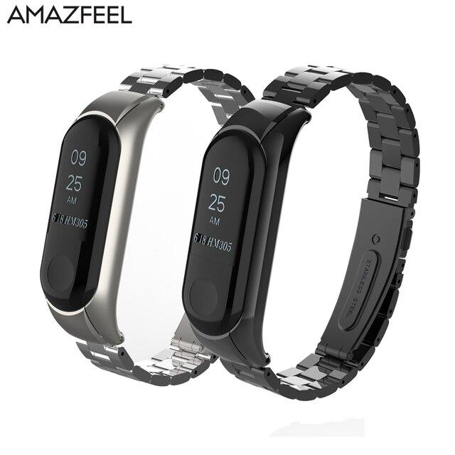 US $4 75 27% OFF Aliexpress com : Buy Mi band 3 Bracelet Metal Strap for  Xiaomi Mi Band 3 Mi band 2 Strap Stainless Steel Screwless Pulseira MiBand  3