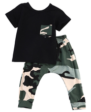 2pcs Camouflage Sport Suit Clothing Set
