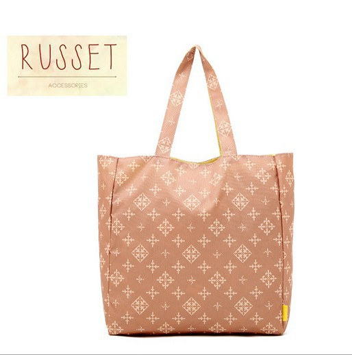 Foldable Shopping Shoulder Bags Russet Classic Argyle