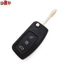 HKOBDII Brand New Folding Flip Remote Key 3 Button For FORD focus mondeo 433MHZ WITH LOGO