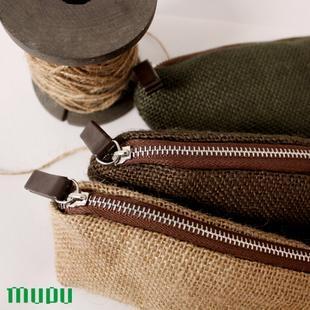 Mupu natural quality coarse hemp pencil case cosmetic bag free air mail
