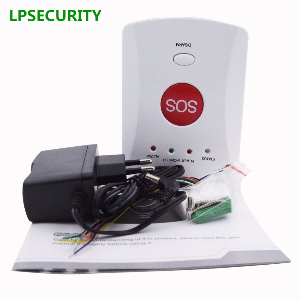 LPSECURITY GSM Panic SMS Alert Emergency Alarm for Elderly/Kids ...