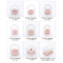 цена на 1pcs Useful Silicone Chair Leg Caps Feet Pads Furniture Table Covers Socks Floor Protectors Round Square Bottom Non-Slip Cups