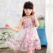 Girls Dress 2018 New Fashion Mesh Summer Kids Dresses for Girls 3 4 5 6 7 8 9 10 11 12 Year Children Flower Clothing 2017 baby girl dress children kids dresses for girls 3 4 5 6 7 8 year birthday outfits dresses girls evening party formal wear