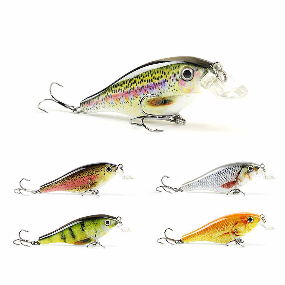 8.3cm/11.3g Top Quality Crankbait Hard Plastic Fishing Lure Lifelike Fish Bait Special c ...
