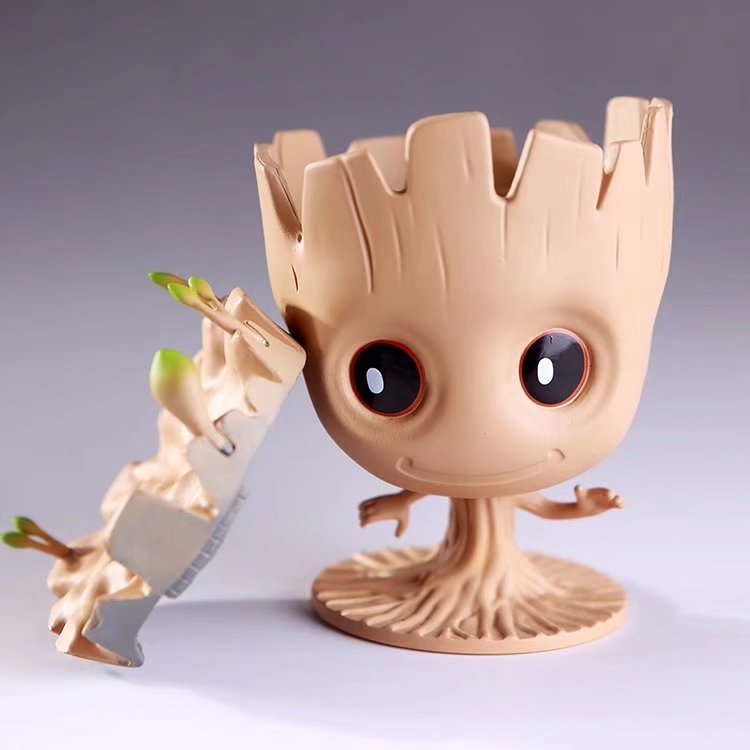 Tree man Action Figures Flowerpot Guardian Galaxy Pot Toys Guardians of The Galaxy Baby Tree man Pot Pen Holder Penholder Toys