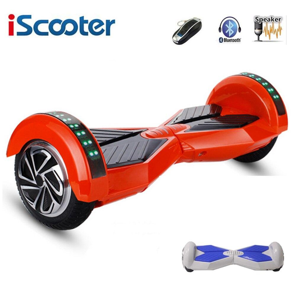 IScooter 8 Inche Hover Board Bluetooth Hoverboard 2 ruedas equilibrio Scooter eléctrico con marquesina para el deporte al aire libre