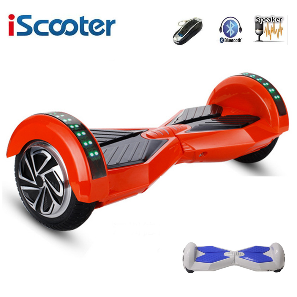 iScooter 8 Inche Hover Board Bluetooth Hoverboard 2 Wheels Balance Scooter electric skateboard With Marquee For