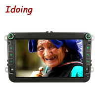 Idoing2Din Steering Wheel Android For VW Car Multimedia Video Radio Player GPS Navigation Quad Core 2G