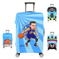 Cartoon Curry Travel Luggage Suitcase Protective Cover, Stretch, made for S/M/L/XL, Apply to 18-32inch Cases, Travel Accessories