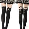 2016 hotSexy mulheres cauda de gato Gipsy joelho Mock alta meias meias meias calças justas do tatuagem 000C 8QC7
