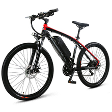 26″ Electric Bicycle Mountain Bike, 48V/10A 27 Speeds E Bike,Adopt Aluminum Alloy Frame, Both Disc Brake, High Quality