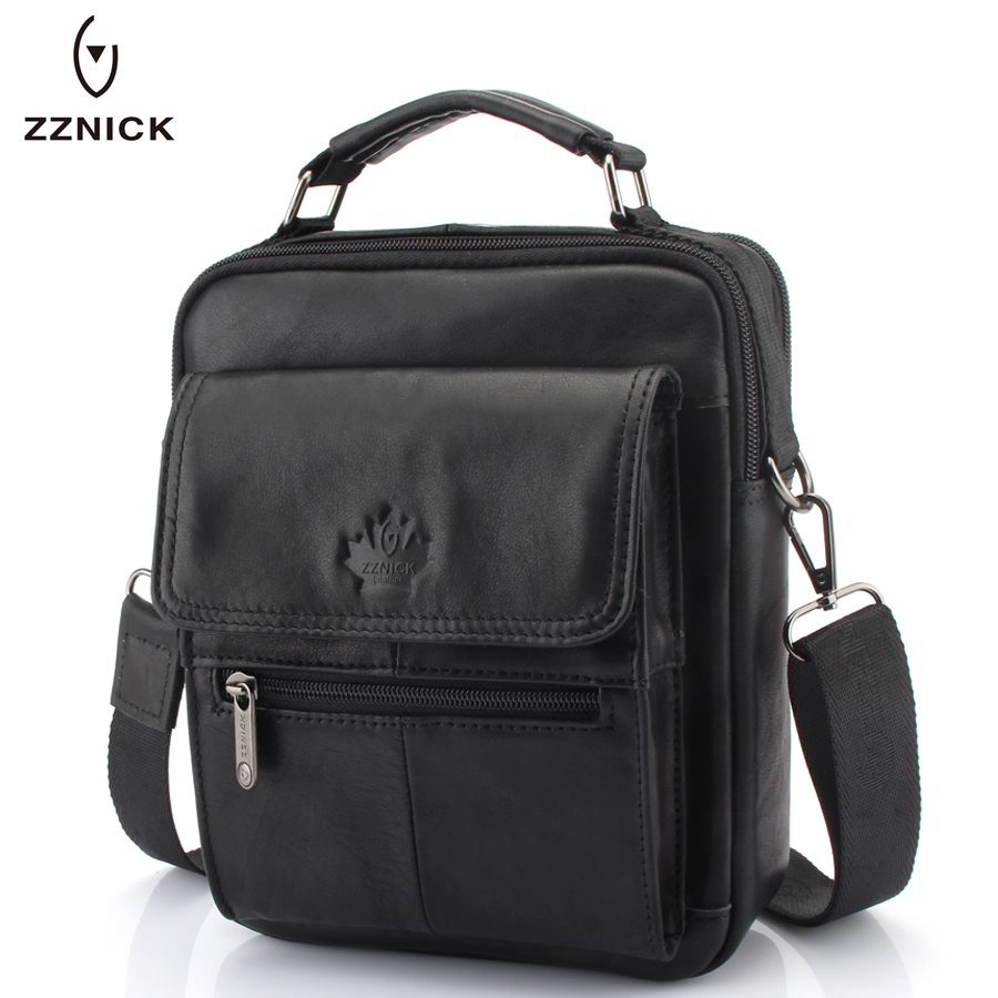 ZZNICK 2019 New Mens Genuine Leather Messenger Bag Male Wax Leather Crossbody Shoulder Bag Cowhide Men Business Bags BriefcaseZZNICK 2019 New Mens Genuine Leather Messenger Bag Male Wax Leather Crossbody Shoulder Bag Cowhide Men Business Bags Briefcase