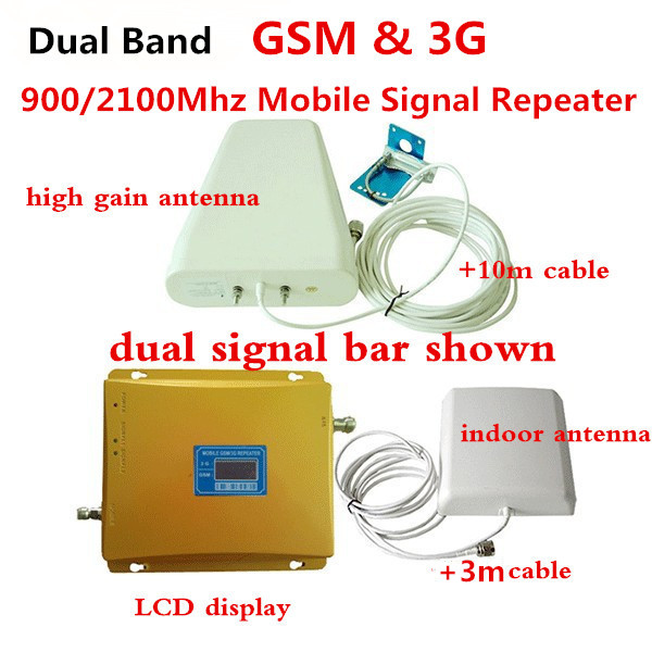 Dual Band GSM 3G Ripetitore GSM 900 MHz UMTS 2100 MHz Ripetitori di Segnale Cellulare GSM WCDMA GSM 3G Amplificatore