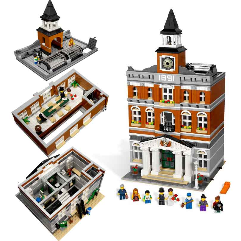 LEPIN 15003 New 2859Pcs City Series The Town Hall Model Building Kits Blocks Kid Toy Gift Compatible with Lepin 10224 lepin 15003 2859pcs city creator town hall sets model building kits set blocks toys for children compatible with 10024