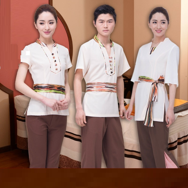 Bath-Apparel Work-Clothes Women SPA for And Hotel Guest-Reception Health-Spa-Foot Beautician