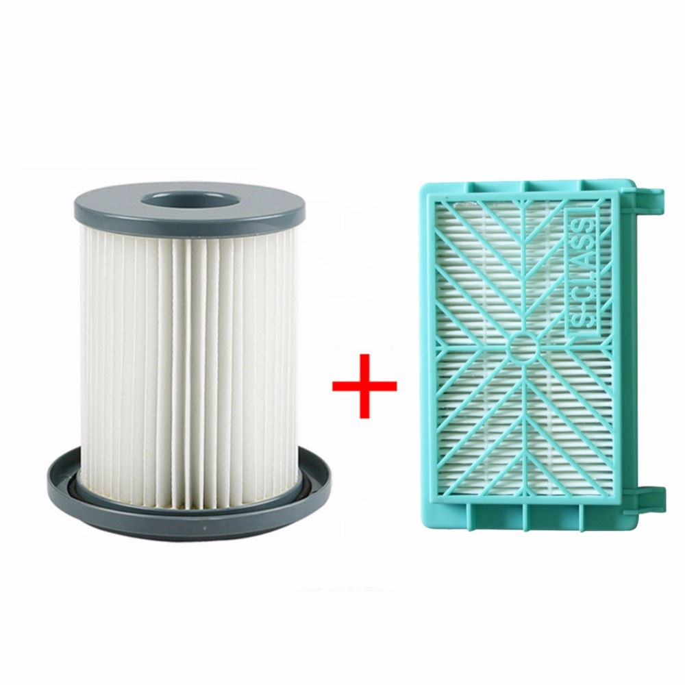 2pcs/set Vacuum Cleaner HEPA Filter Element + Air Filter For Philips FC8720 FC8724 FC8732 FC8734 FC8736 FC8738 FC8740 FC8748