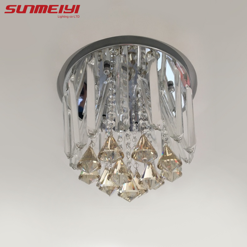 Aliexpress Buy 2017 Modern Round LED Crystal Ceiling Lights