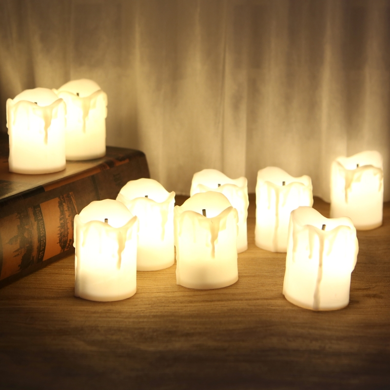Christmas Halloween Night light Plastic Battery Powered LED Candle Light Flameless Tealight Festival Wedding Decoration LampChristmas Halloween Night light Plastic Battery Powered LED Candle Light Flameless Tealight Festival Wedding Decoration Lamp