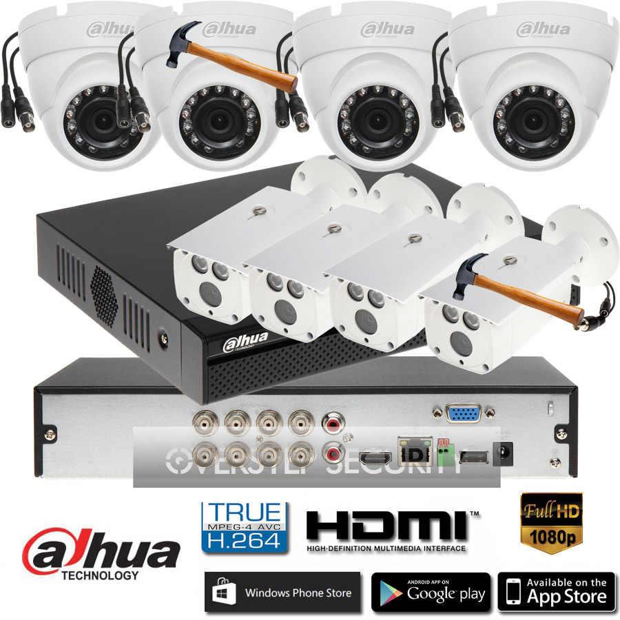 Dahua 8CH XVR5108HS S3 CVR camera kit with dahua 1080P CVI