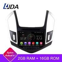 LJDA 2 Din 8 inch Car Radio Android 9.1 For CHEVROLET Cruze 2013 2014 2015 Quad Core GPS Navigator Mirror link WIFI Auto Audio