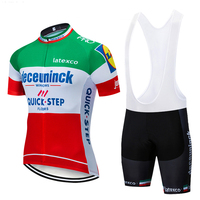 2019 Deceuninck QUICKSTEP pro cycling jersey bike shorts suit Ropa Ciclismo mens summer quick dry bicycle Maillot Pants clothing