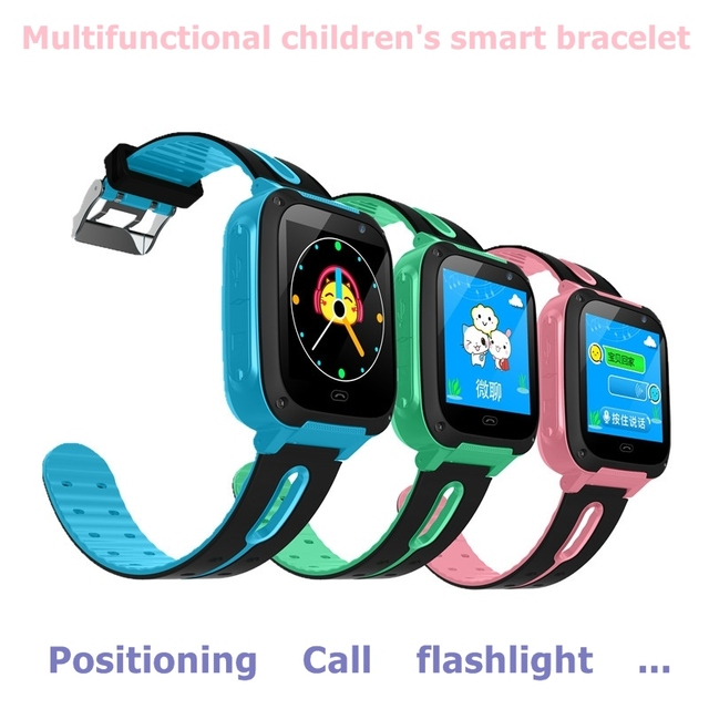 New color screen smart children bracelet GPS positioning call flashlight photo p