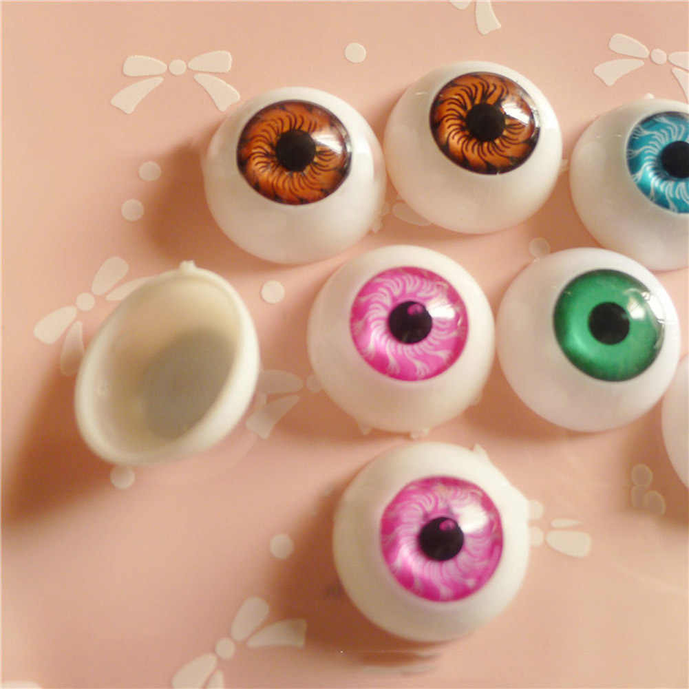 1 pair!!! Fit for 20 Inches Reborn Babies Doll Kits 20 mm Half Round Toys Eyes Acrylic Doll Eyes