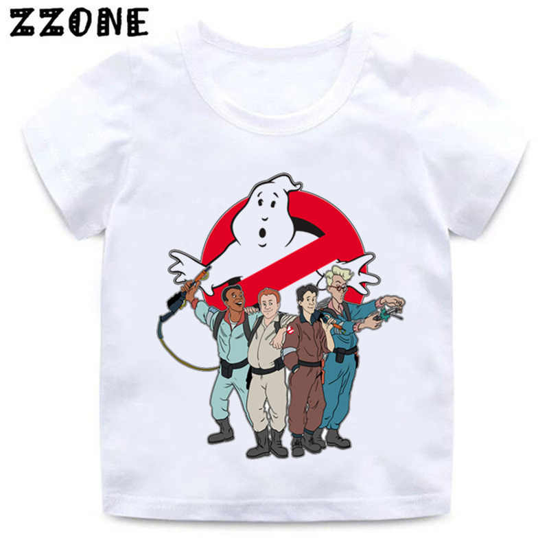 Boys and Girls Old School Logo Ghostbuster Print T shirt Kids Stay Puft Funny Clothes Baby Summer Casual T-shirt,HKP5224