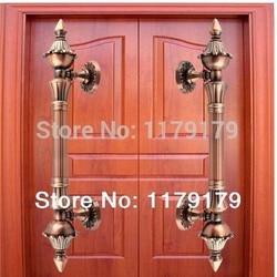 350mm drewna szklane drzwi ciągnie wysokiej jakości antyczne ze stopu cynku KTV biura hotelu fabryki domu drzwi z drewna uchwyty w Uchwyty szafek od Majsterkowanie na
