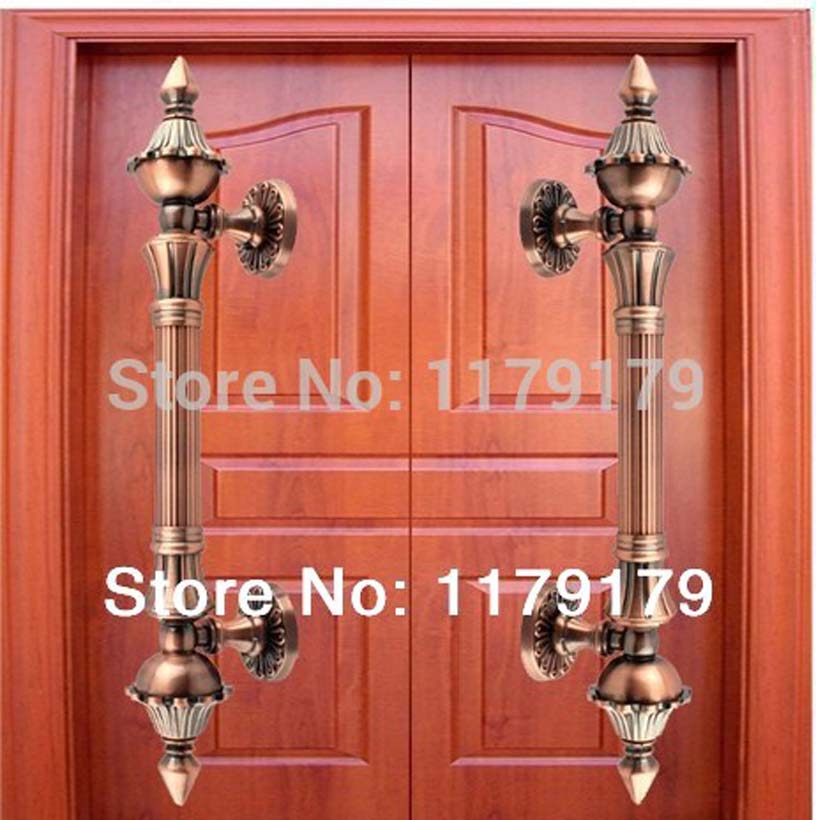 350mm wood glass door pulls high quality antique zinc alloy KTV Office Hotel Factory  Home wood door handles top quality ivory white big gate handle home ktv hotel office glass door pull handles europe vintage white gold wood doorhandles