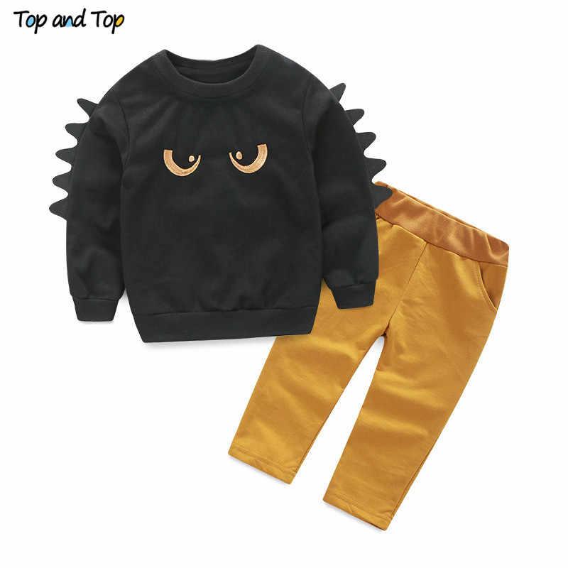 ילדים בגדי סטים ארוך שרוול חולצה + מכנסיים, סתיו אביב ילדים חליפת ספורט בני בגדי משלוח חינם
