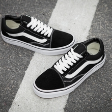 d48a341de1 VANS OLD SKOOL Classic Womens Sneakers canvas Sports black Weight lifting  shoes size. US  39.94   Pair Free Shipping
