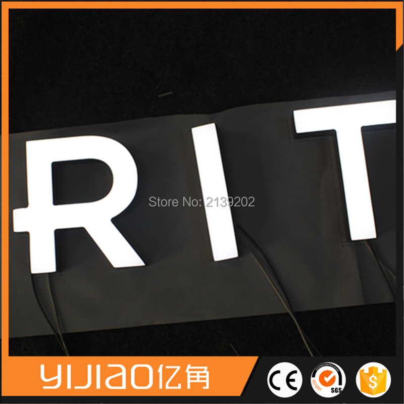embossing changeable acrylic frontlit letter sign