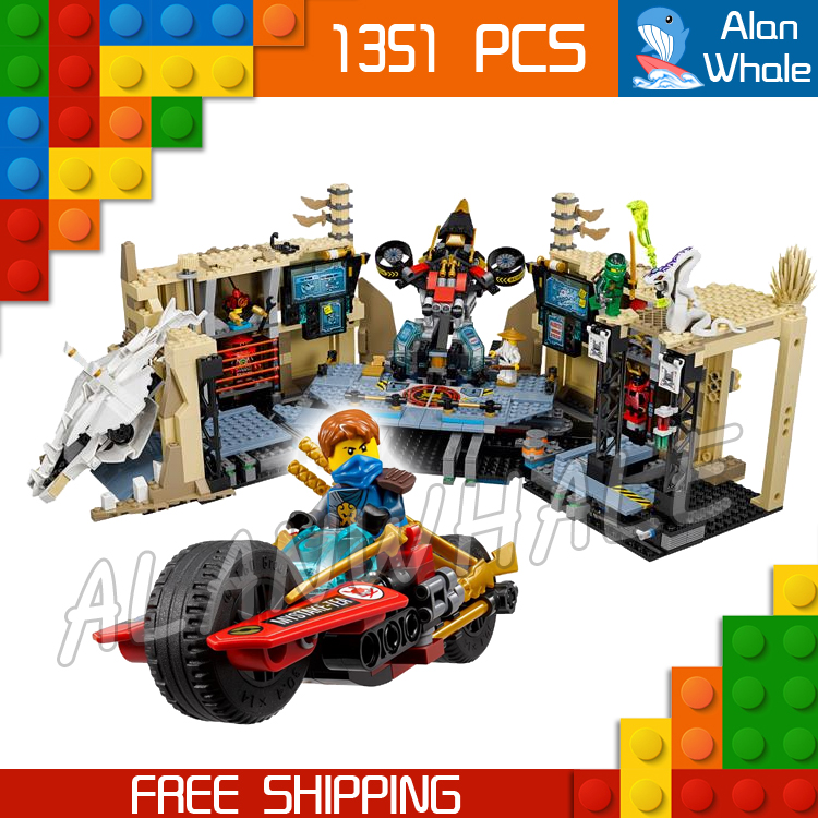 1351pcs Bela 06039 Ninja Samurai X Cave Chaos Building Blocks Jay Lloyd Toys Compatible With lego lepin 663pcs ninja killow vs samurai x mech oni chopper robots 06077 building blocks assemble toys bricks compatible with 70642