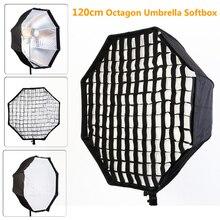 Photo Studio 120 cm Octagon Paraguas Softbox Difusor Reflector con Nylon Ceñidor para Speedlite Flash de Estudio Fotografía Caja de luz