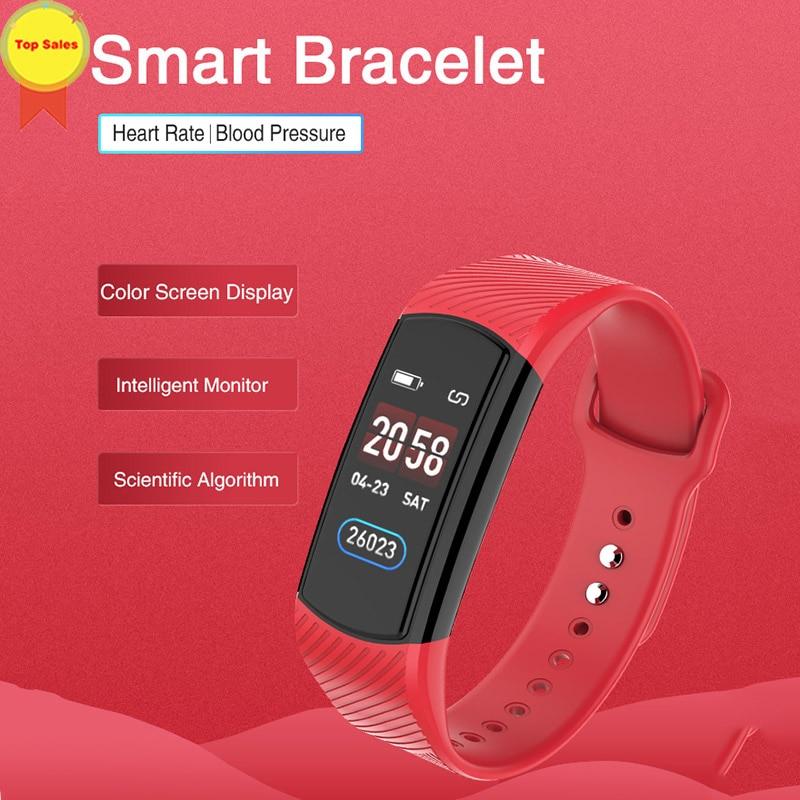 Bande intelligente 2019 tension artérielle Bracelet intelligent moniteur de fréquence cardiaque multi-sport Tracker IP67 étanche Bracelet intelligent montre hommes