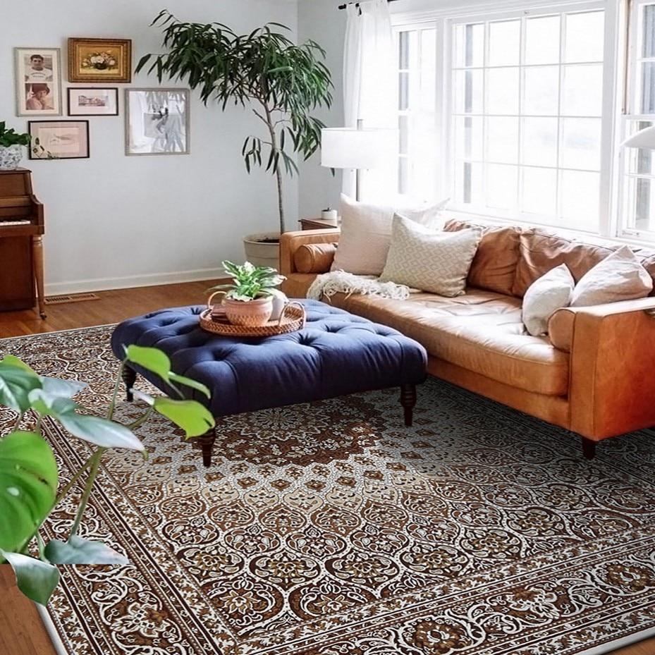 Alfombra persa de gran tamaño, alfombra de mesa de café de la sala - Textiles para el hogar